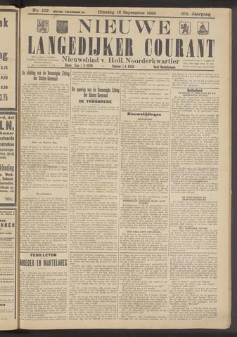 Nieuwe Langedijker Courant 1928-09-18
