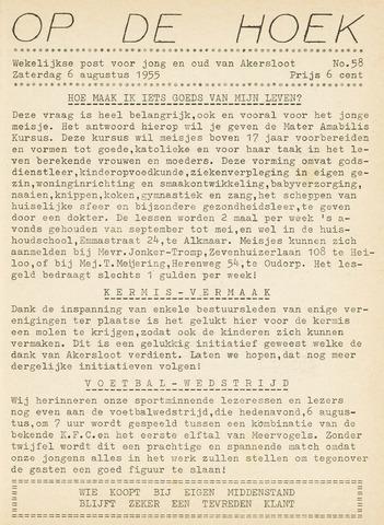 Op De Hoek, weekblad voor Akersloot 1955-08-06
