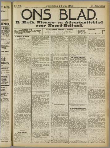Ons Blad : katholiek nieuwsblad voor N-H 1913-07-24