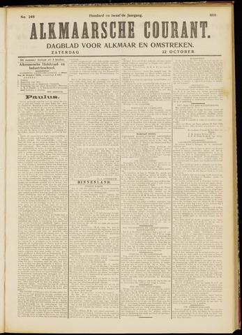 Alkmaarsche Courant 1910-10-22