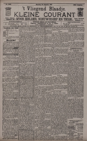 Vliegend blaadje : nieuws- en advertentiebode voor Den Helder 1895-08-24