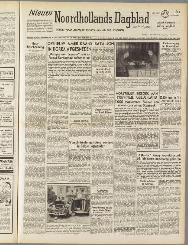 Nieuw Noordhollandsch Dagblad : voor Alkmaar en omgeving 1950-07-11