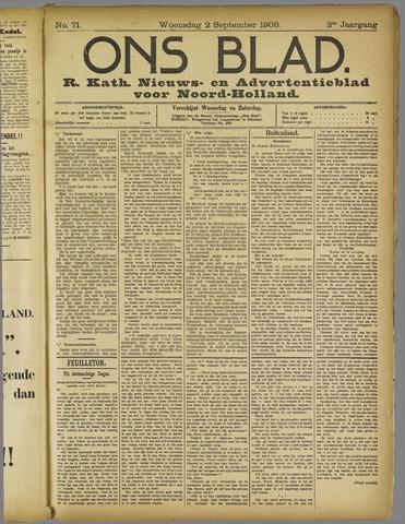 Ons Blad : katholiek nieuwsblad voor N-H 1908-09-02