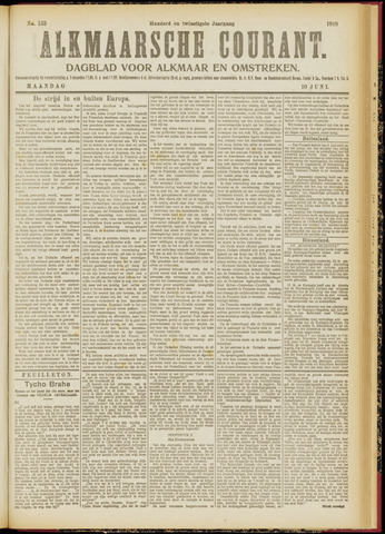 Alkmaarsche Courant 1918-06-10