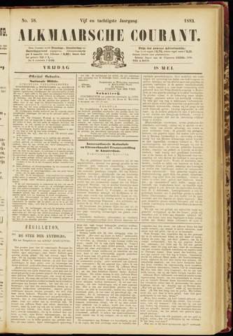 Alkmaarsche Courant 1883-05-18