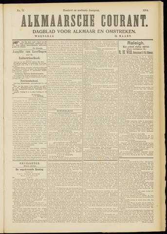 Alkmaarsche Courant 1914-03-25