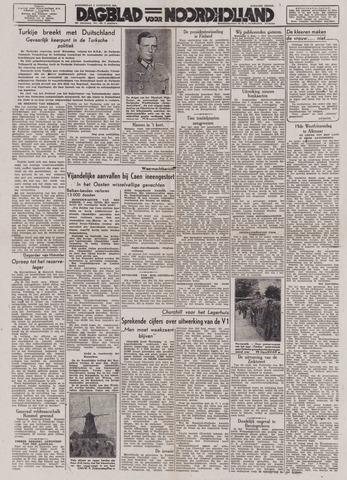 Dagblad Noord-Holland, Schager editie 1944-08-03