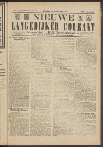 Nieuwe Langedijker Courant 1927-12-13