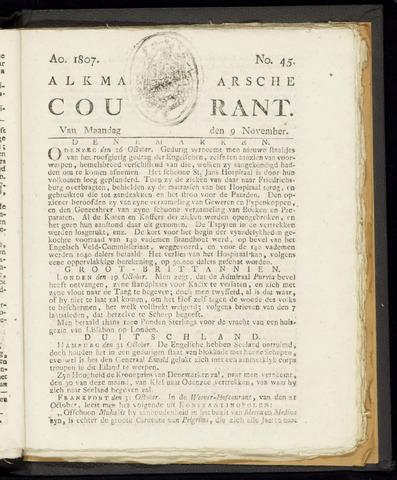 Alkmaarsche Courant 1807-11-09