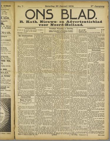 Ons Blad : katholiek nieuwsblad voor N-H 1909-01-23