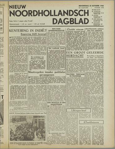 Nieuw Noordhollandsch Dagblad : voor Alkmaar en omgeving 1945-10-25
