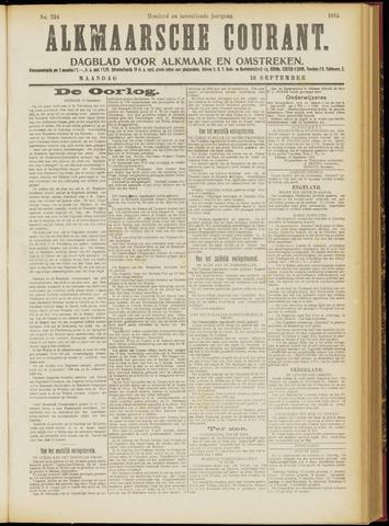 Alkmaarsche Courant 1915-09-13