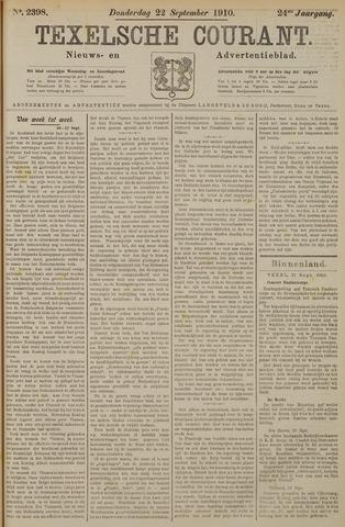 Texelsche Courant 1910-09-22