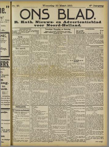 Ons Blad : katholiek nieuwsblad voor N-H 1910-03-30