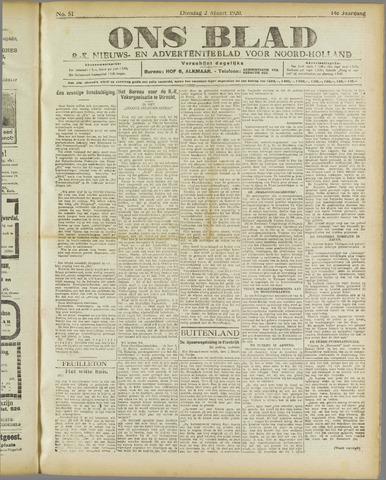 Ons Blad : katholiek nieuwsblad voor N-H 1920-03-02