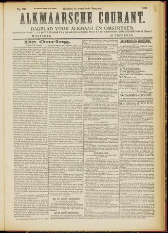 Alkmaarsche Courant 1915-12-22