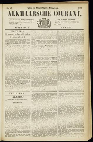 Alkmaarsche Courant 1892-03-02