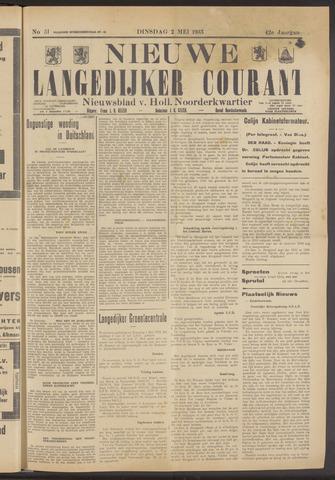 Nieuwe Langedijker Courant 1933-05-02