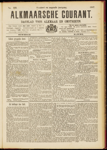 Alkmaarsche Courant 1907-06-11