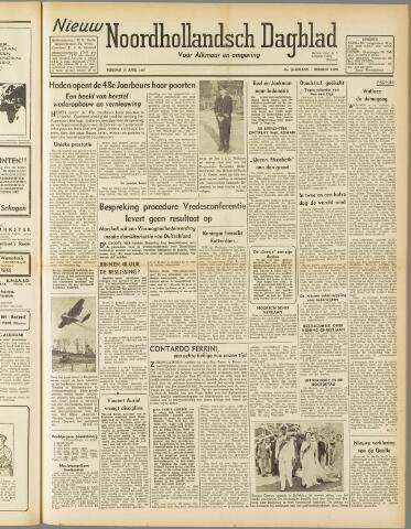 Nieuw Noordhollandsch Dagblad : voor Alkmaar en omgeving 1947-04-15