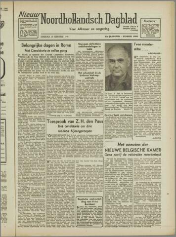 Nieuw Noordhollandsch Dagblad : voor Alkmaar en omgeving 1946-02-19