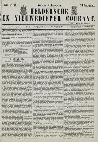Heldersche en Nieuwedieper Courant 1870-08-07