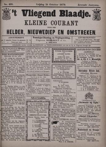 Vliegend blaadje : nieuws- en advertentiebode voor Den Helder 1879-10-24