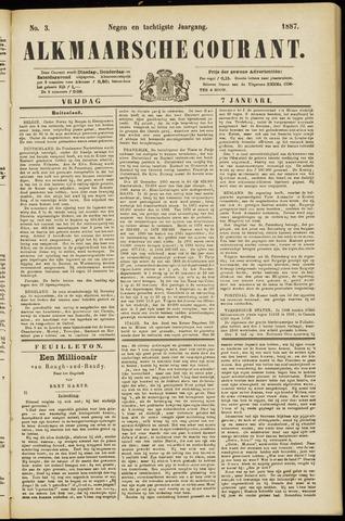 Alkmaarsche Courant 1887-01-07
