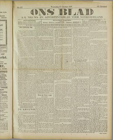 Ons Blad : katholiek nieuwsblad voor N-H 1920-10-27