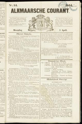 Alkmaarsche Courant 1854-04-03