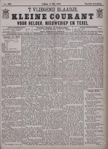 Vliegend blaadje : nieuws- en advertentiebode voor Den Helder 1881-05-13