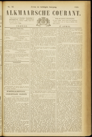 Alkmaarsche Courant 1885-04-17