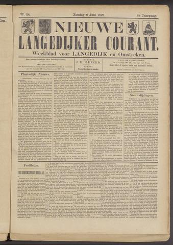 Nieuwe Langedijker Courant 1897-06-06