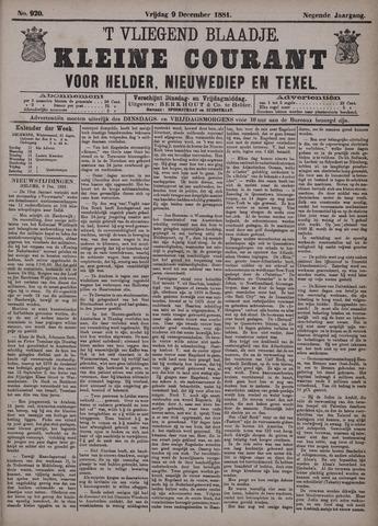 Vliegend blaadje : nieuws- en advertentiebode voor Den Helder 1881-12-09