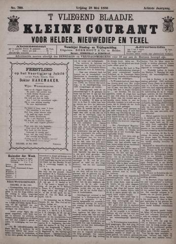 Vliegend blaadje : nieuws- en advertentiebode voor Den Helder 1880-05-28