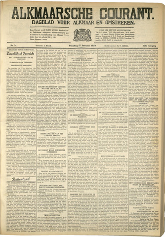 Alkmaarsche Courant 1933-01-17