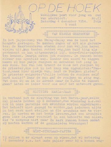 Op De Hoek, weekblad voor Akersloot 1954-12-04