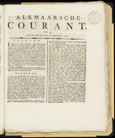 Alkmaarsche Courant 1815-08-28