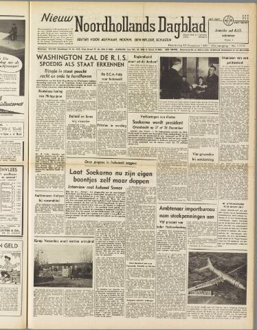Nieuw Noordhollandsch Dagblad : voor Alkmaar en omgeving 1949-11-10