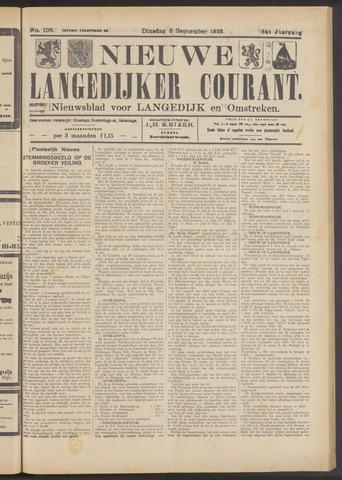 Nieuwe Langedijker Courant 1925-09-08