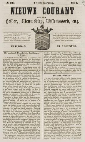 Nieuwe Courant van Den Helder 1862-08-23