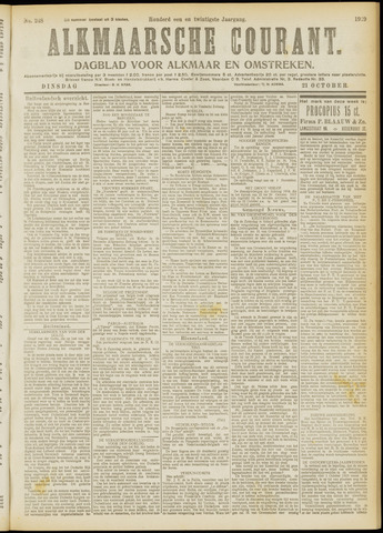 Alkmaarsche Courant 1919-10-21
