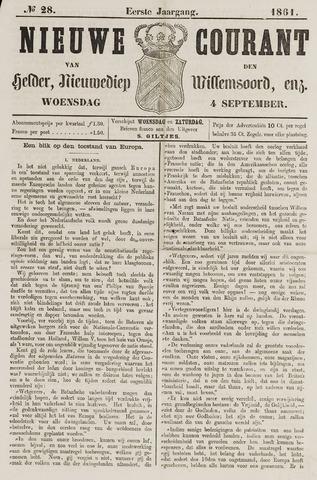 Nieuwe Courant van Den Helder 1861-09-04
