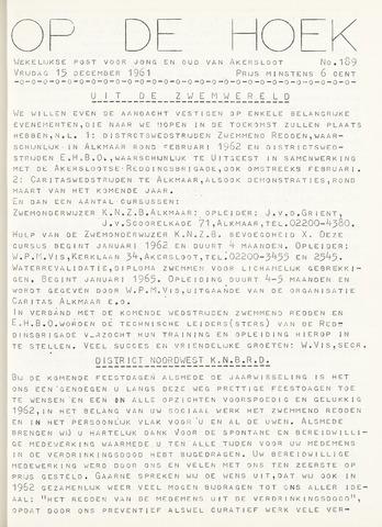 Op De Hoek, weekblad voor Akersloot 1961-12-15