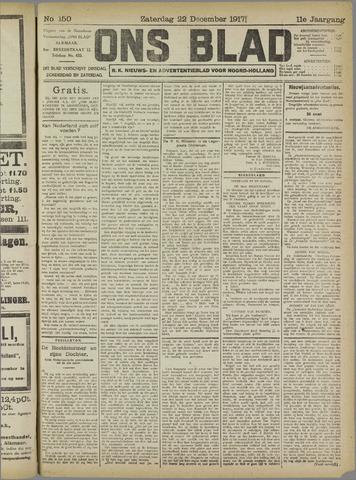 Ons Blad : katholiek nieuwsblad voor N-H 1917-12-22