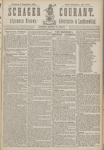 Schager Courant 1920-12-07