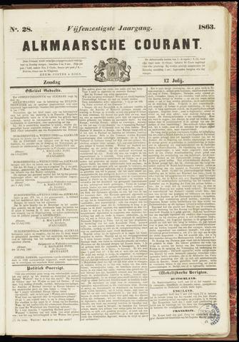 Alkmaarsche Courant 1863-07-12