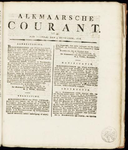 Alkmaarsche Courant 1816-11-04