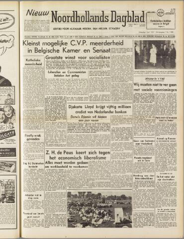 Nieuw Noordhollandsch Dagblad : voor Alkmaar en omgeving 1950-06-05