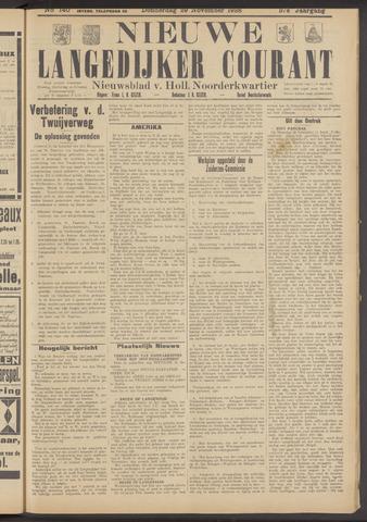 Nieuwe Langedijker Courant 1928-11-29